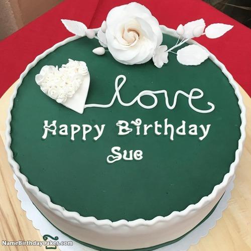 Happy Birthday Sue Cakes Cards Wishes