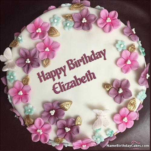 Birthday Cake Happy Birthday Elizabeth Cake