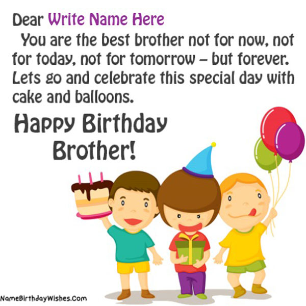 Birthday Wishes For Brother With Name And Photo