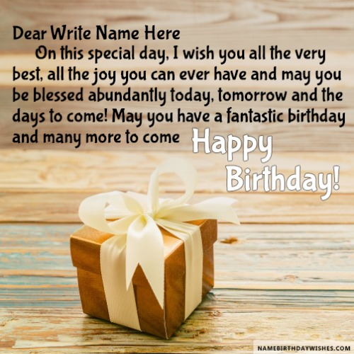 Gift For You Birthday Wishes For Friend With Name