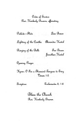 Program - Order of the Service