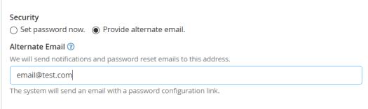alternate email