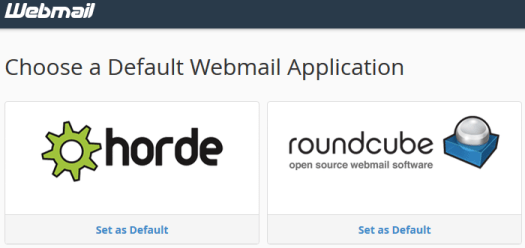 cpanel webmail apps