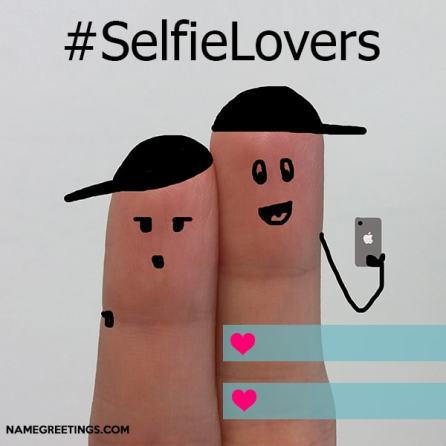 selfie lovers pic with names