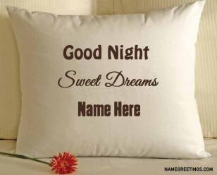 write name good night pillow