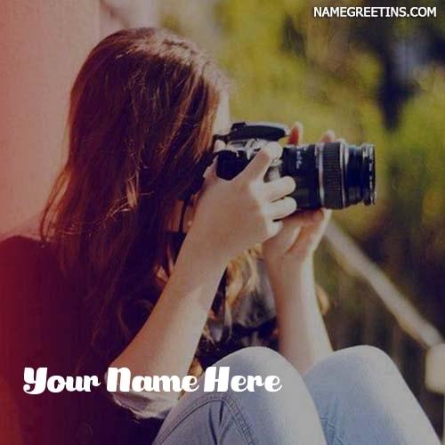 Make Name Dp For Photographer Girl