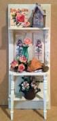 Karen Tomajan's shabby chic garden shelf project.