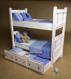 Finished One Inch Scale bed by JP Sligh