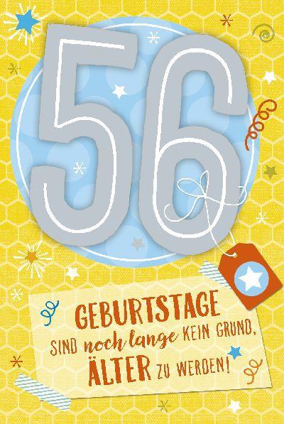 Gluckwunsche Geburtstagskarte 56 Geburtstag Mit Torte