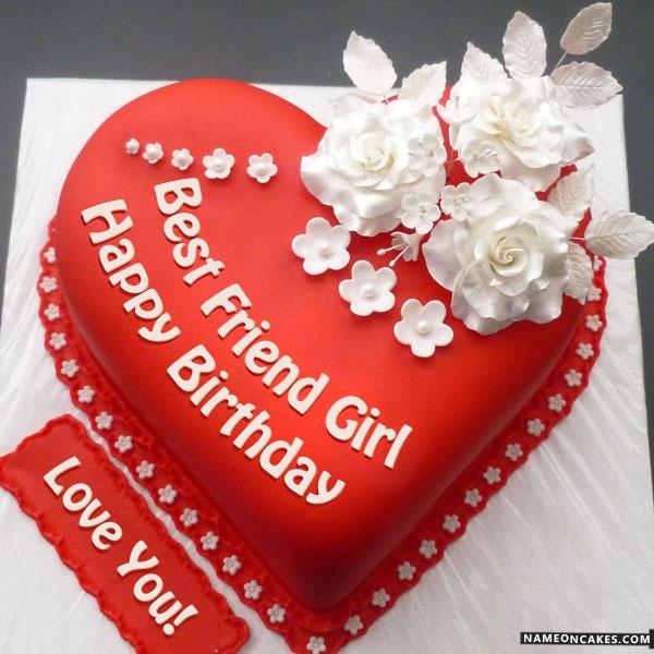 Happy Birthday Best Friend Girl Cake Images