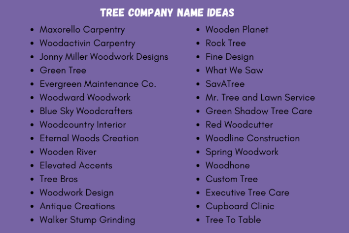 tree company names
