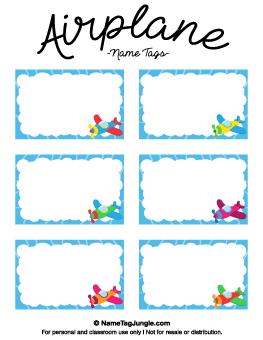 Free Printable Kids Name Tags