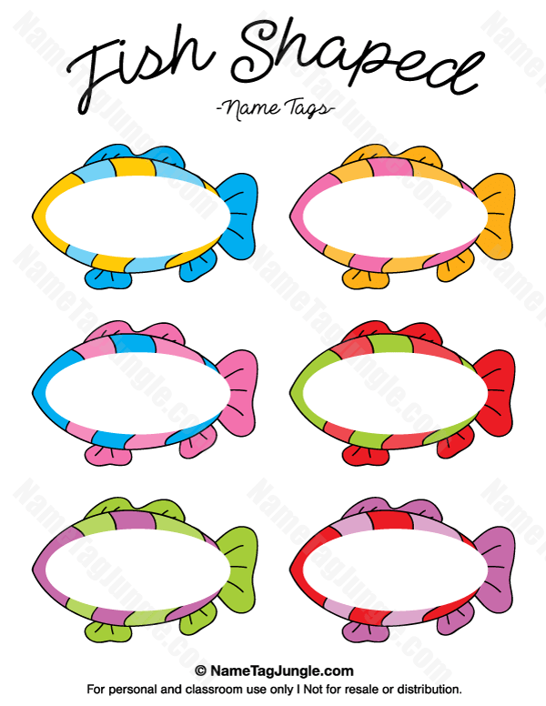 Fish Favor Tags Templates