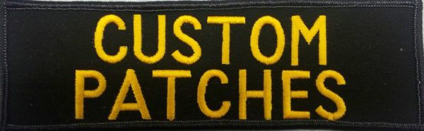 black custom patch