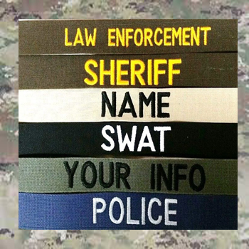 1 inch Law Enforcement Name Tapes with Hook Fastener