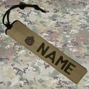 Tan Camo Cord Tag from Name Tape Factory in Wisconsin, Veteran Owned