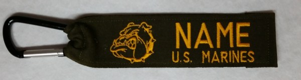 1 inch Luggage Tag With Carabiner Hook USMC