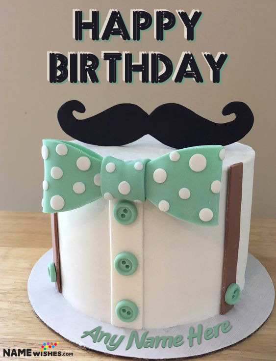 Cool Happy Birthday Cake For Dad With Name Men Cake