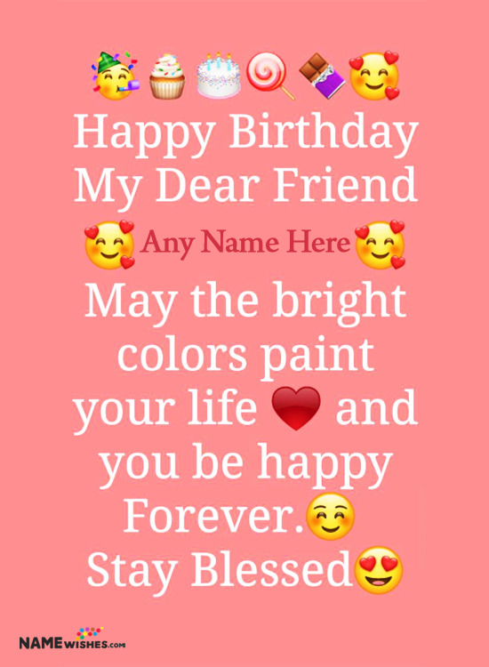 Happy Birthday Wishes With Name Edit For Whatsapp Status