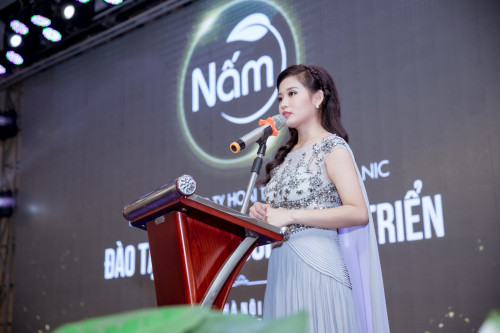 Giám đốc Nguyễn Vũ Hoài Thương phát biểu khai mạc sự kiện lớn nhất của Nấm
