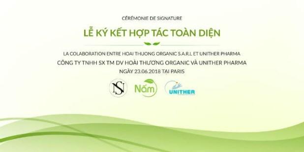 Lễ ký hợp tác giữa thương hiệu Nấm và đối tác tại Pháp