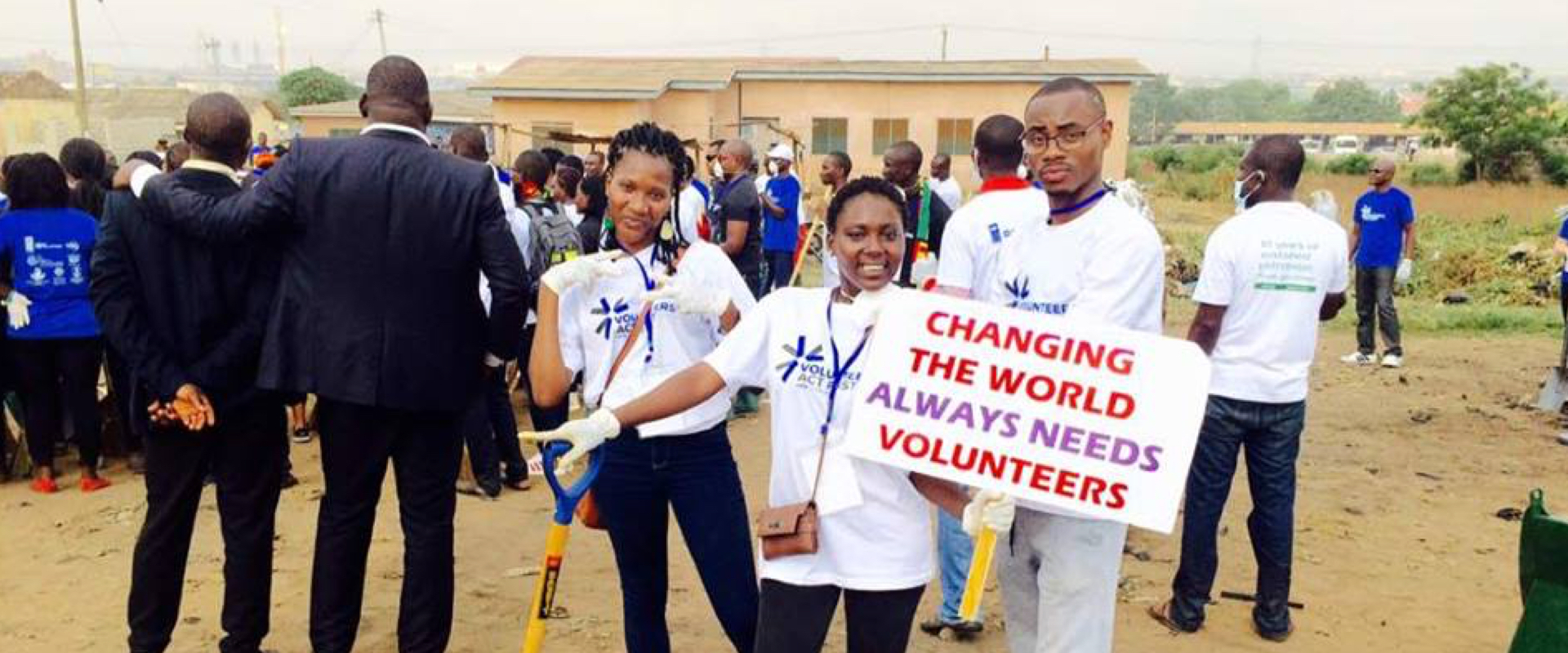 Marly Samuel promoting volunteerism in Accra Ghana