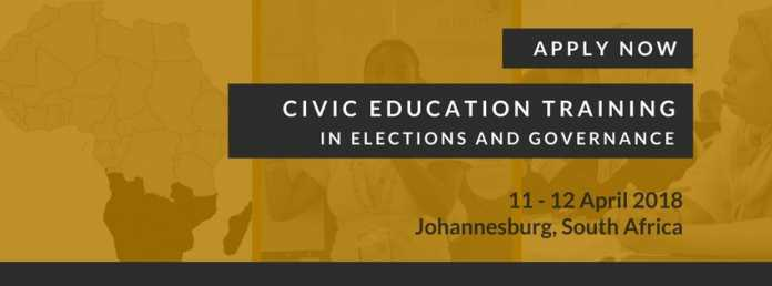 MINDS 2018 Southern Africa Civic Education Workshop on Elections and Governance ( Fully Funded to Johannesburg ,South Africa)