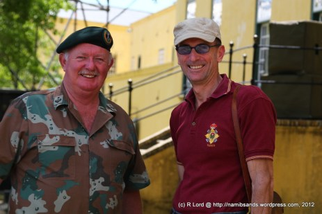 Lt Col Bryan Sterne and Captain John Manning of the Dukes (he is the well-known voice behind the tattoo)
