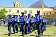 The Navy Cadets are looking very smart in their blue uniforms