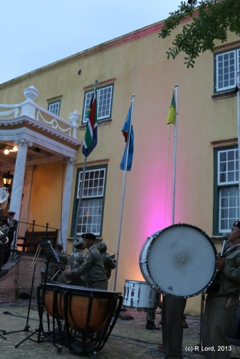 The flagbearers have raised the flags of the countries in which South African troops are currently deployed for peacekeeping