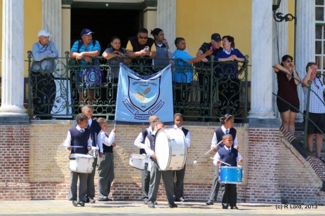 The drummers of Dennegeur Primary School of Strandfontein