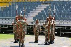 Rehearsing the Castle Guard drill