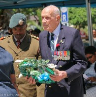 Lt Matthews Ndzena with Major Charles Holloway, veteran of Tobruk and El Alamein, ex OC 71 Signal Unit