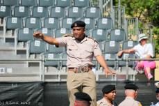 Capt Vernon Michels creates order in the ranks