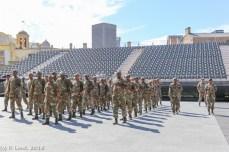 Flag Bearers drill