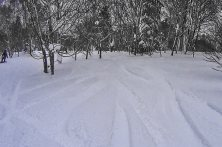 山頂付近の深雪