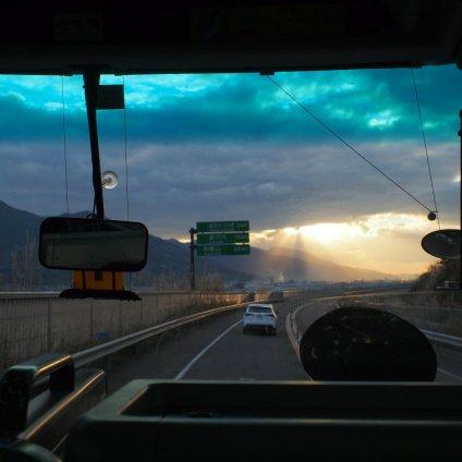橋本から高野山に向かうバスからのショット