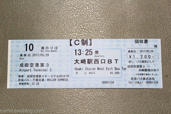 WillerExpress・成田シャトルの乗車チケット