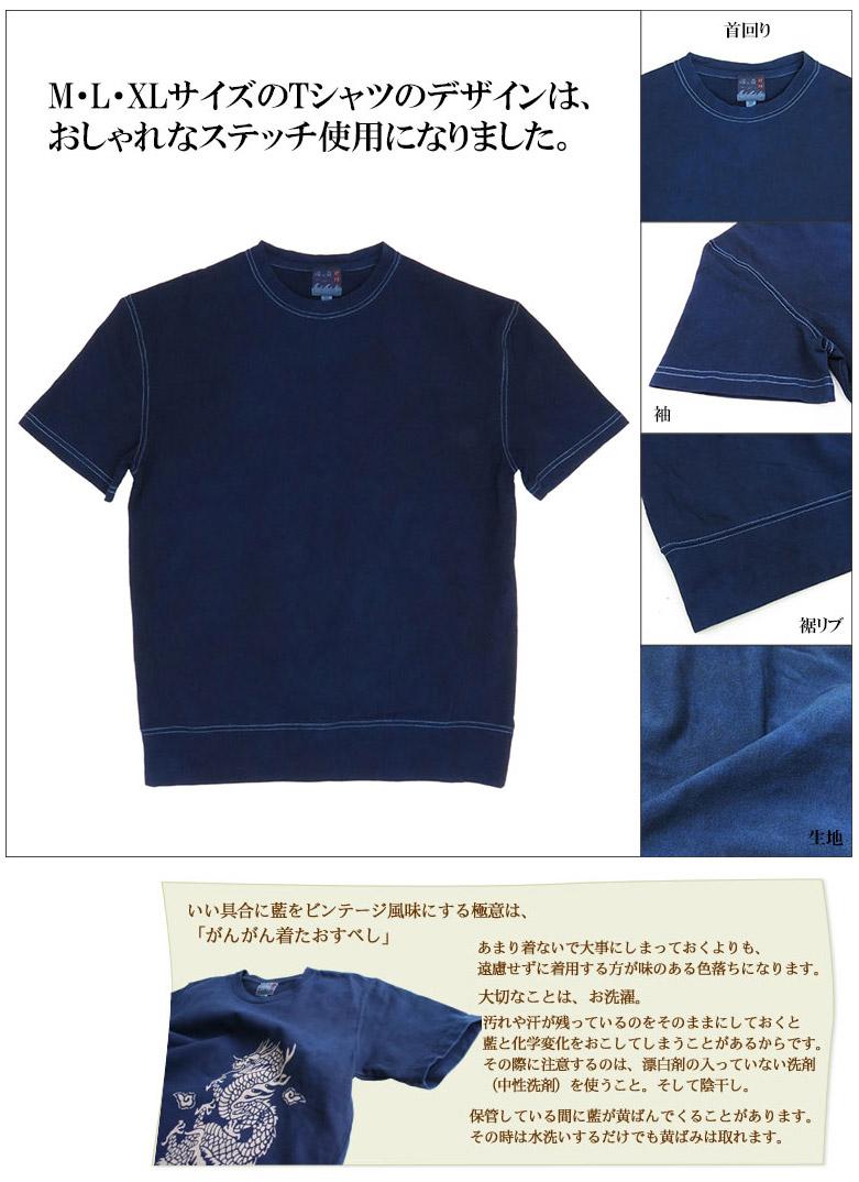 デザイン変更と琉球藍染めTシャツの着方と管理