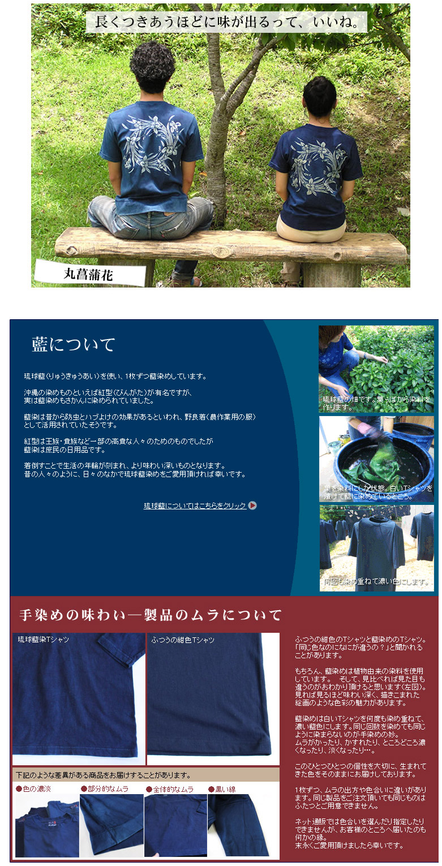 琉球藍染めについての説明