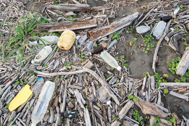 海のプラスチックごみ