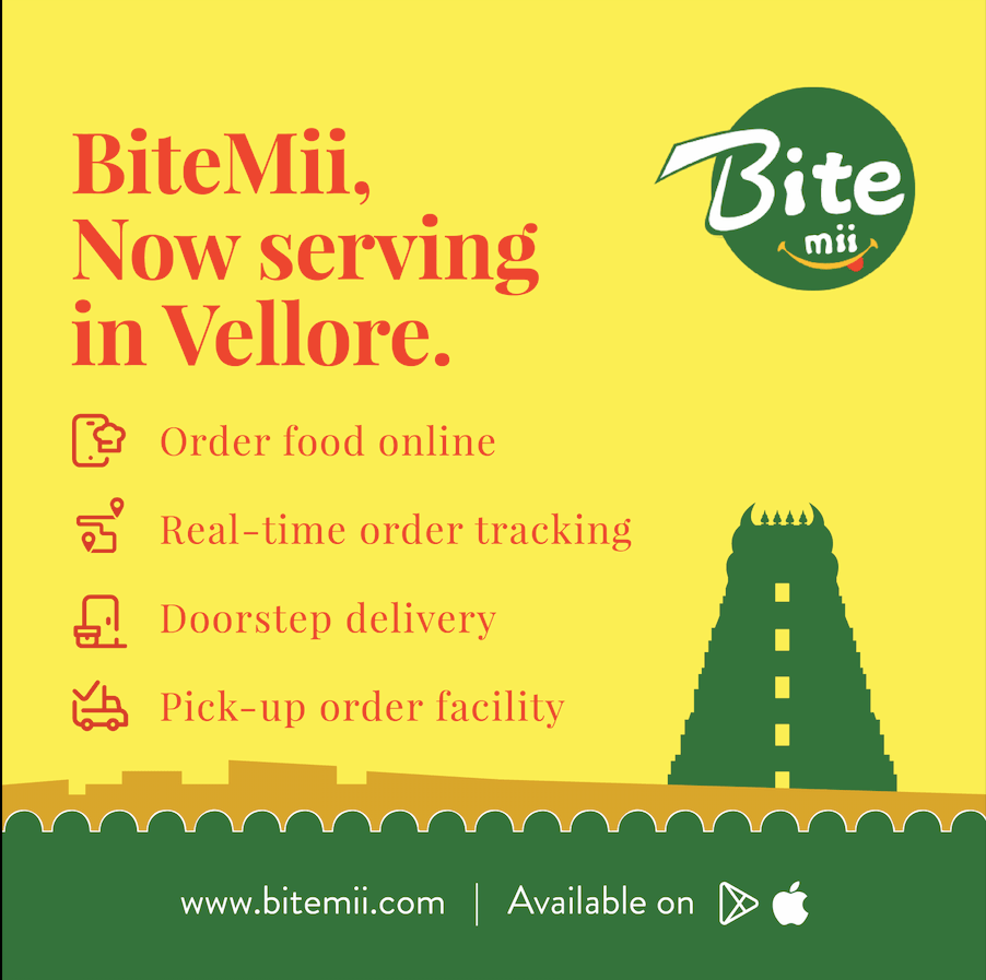 Bitemii Food delivery app in Vellore