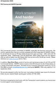 VW Commercial NAMPO Special Offers 1-1