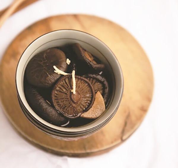 cách chế biến nấm hương om gừng