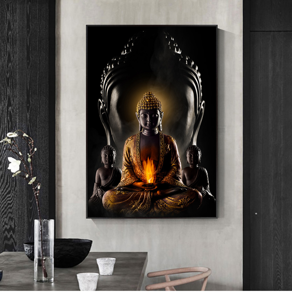 God buddha wall art canvas prints modern buddha canvas art paintings on the wall canvas pictures buddhism posters wall decor