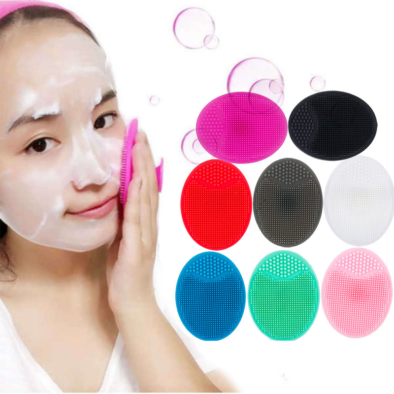 1pc Silica Gel Cleaning Pad Wash Face Facial Exfoliating Brush