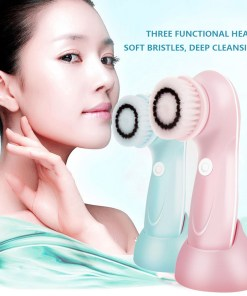 Electric Face Cleaning Brush Facial Cleansing Brush Massager