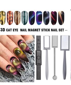 Bukaki Strong Magnetic Nail Stick Set 3d Cat Eye Effect Magnet For