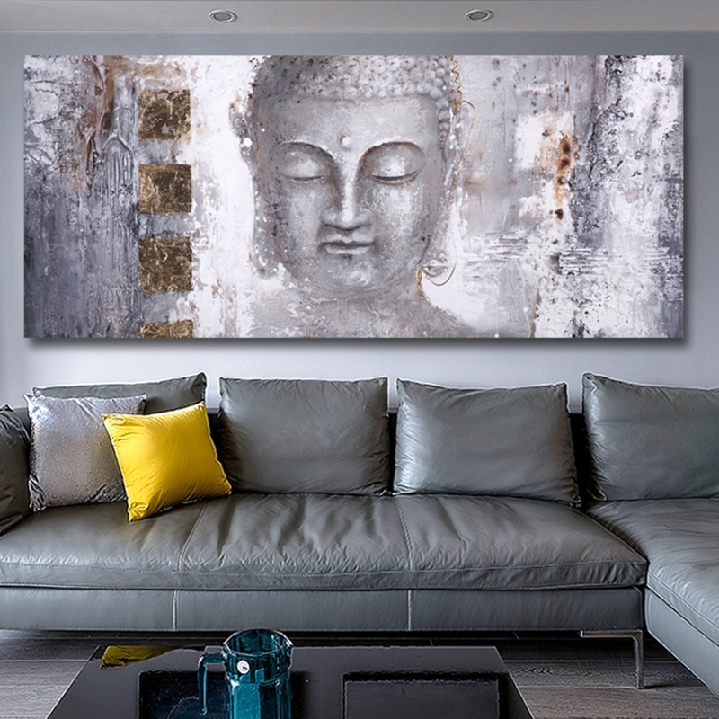 High Quality Abstract Buddha Painting Canvas Wall Art Canvas Large Modern Buddha Painting For Living Room Wall Art Prints Poster Nana S Corner Beauty Cosmetic