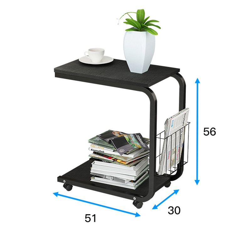 Tea Table Side End Table For Office Coffee Table Magazine Shelf Small Table Movable Living Room Bedroom Furniture Nana S Corner Beauty Cosmetic